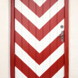 Stock Photo: Red and White Door