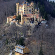 Historic Castle Hohenschwangau in Bavaria - Stock Photo