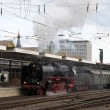 Stockfoto: Steam Train at Station in Koblenz, Germany