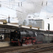 Steam Train at the Station in Koblenz, Germany — Stock Photo