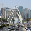 Tower Clock Roundabout in Dubai - Stock Photo