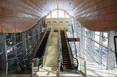 Futuristic Metro Station in Dubai, United Arab Emirates — Stock Photo