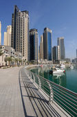 Promenade at Dubai Marina. Dubai, United Arab Emirates — Stock Photo