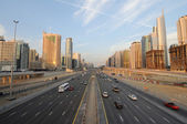 Sheikh Zayed Road in Dubai, United Arab Emirates — Stock Photo