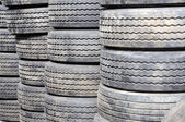New Tires in Storage — Stock Photo
