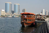 Traditional Dhow at Dubai Creek, United Arab Emirates — Stock Photo