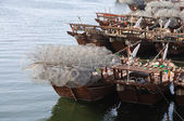 Traditional Wooden Dhows in Sharjah — Stock Photo