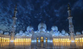 Sheikh Zayed Mosque at night, Abu Dhabi — Stock Photo