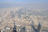 Aerial view from Burj Khalifa, Dubai — Foto de Stock