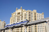 Palm jumeirah monorail. dubai förenade arabemiraten — Stockfoto