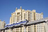 The Palm Jumeirah Monorail. Dubai United Arab Emirates — Стоковое фото