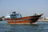 Dhow at Dubai Creek, United Arab Emirates — ストック写真