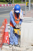 Street Worker in Dubai — Stock Photo