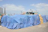 Storage at Port in Sharjah City, United Arab Emirates — Stock Photo