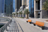 Promenade in Dubai Marina — Stock Photo