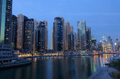Dubai Marina at dusk — Stock Photo