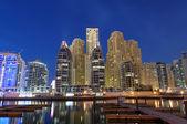 Dubai Marina at dusk. — Stock Photo