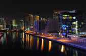 Dubai Marina at night — Foto Stock