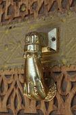 Golden Door Knocker — Stock Photo