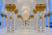 Detail of the Sheikh Zayed Mosque at night, Abu Dhabi — Stock Photo