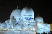 Sheikh Zayed Mosque at night, Abu Dhabi — Stock Photo