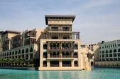 Arabische stijl architectuur in dubai — Stockfoto