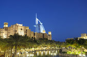 Madinat Jumeirah at dusk. Dubai — Stock Photo