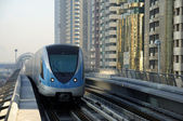 Metro Train in Dubai — Stock Photo