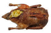 Rusted duck stuffed with potatoes — Стоковое фото