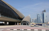 Burj Dubai and Dubai Mall Metro Station, Dubai — Stock Photo