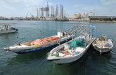 Barcos en sharjah creek — Foto de Stock