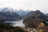 Alpine Landscape and Castle Hohenschwangau in Bavaria, Germany — Stock Photo