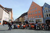 Market Square in town Fuessen, Germany — Stock Photo
