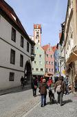 Historiska centrum av staden fuessen, tyskland — Stockfoto