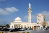 Bella moschea nella città di sharjah — Foto Stock