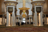 Inside of Sheikh Zayed Mosque in Abu Dhabi — Stock Photo