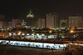 Fish market in Sharjah City at night. — Stock Photo