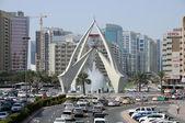 Tower Clock Roundabout in Dubai — Stock Photo
