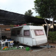 European mobile home on a camping site — Stock Photo
