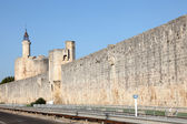 Ramparts of medieval town Aigues-Mortes, southern France — Stock Photo