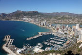 Mediterranean Resort Calpe, Costa-Blanca Spain — Stock Photo