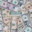 Dollar banknotes background — Stock Photo