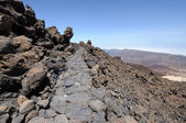 Lava field at Teide volcano, Tenerife Spain — Stock Photo