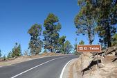 Mountain Road in El Teide National Park, Canary Island Tenerife, Spain — Stock Photo