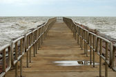 Pier into the Sea, Padre Island Texas — Stock Photo