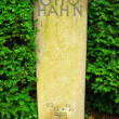 Gravestone of the famous physician Otto Hahn - Stock Photo