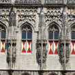 Detail shot of the medieval city hall in Middelburg, the Netherlands - Stock Photo