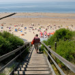 Stairway to the beach in the Netherlands — Stock Photo