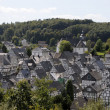 Half timbered houses in town Freudenberg, Germany — Stock Photo