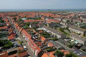 Veduta aerea sopra westkapelle, paesi bassi — Foto Stock